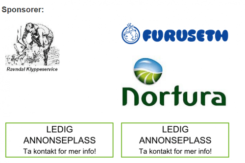 Sponsorplass på saueklipping.no